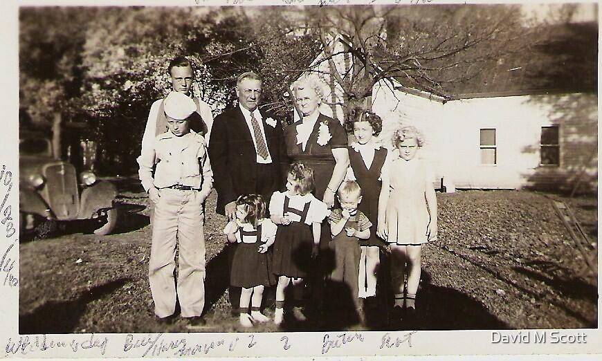 The wedding day of Grandma Newhouse 1946 by David M Scott