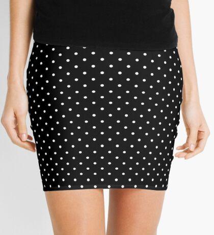 Negro punteado Minifalda
