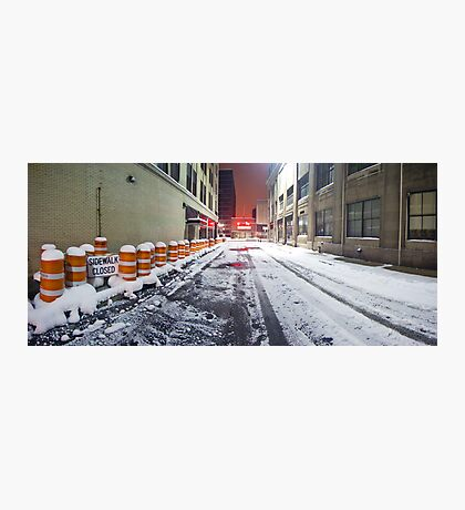 SIDEWALK CLOSED - Rochester NY Photographic Print