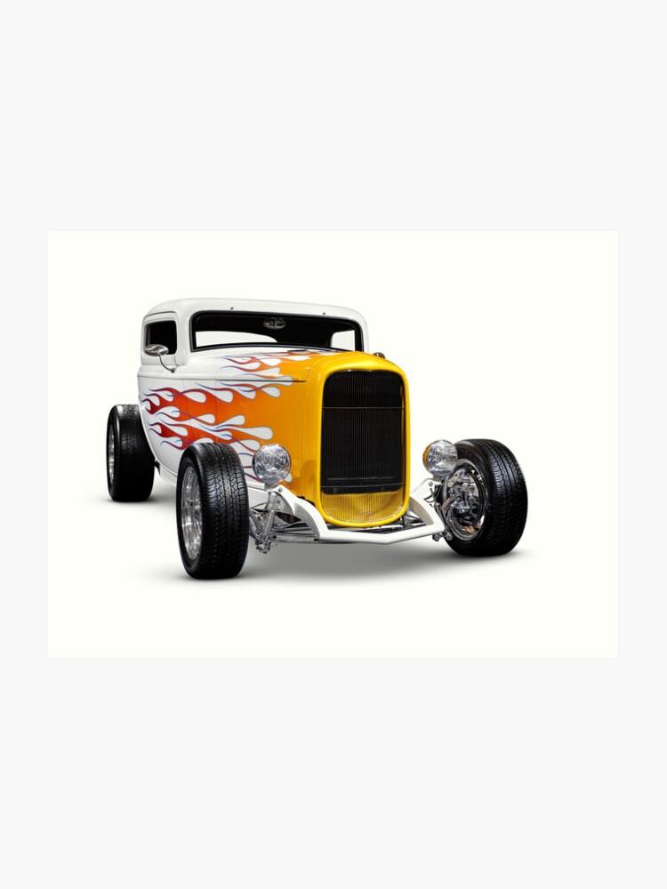 Hot Rod Ford Hi Boy Coupe 1932 Art Print By Artnudephotos Redbubble
