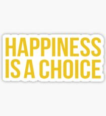 Yellow Happiness Sticker