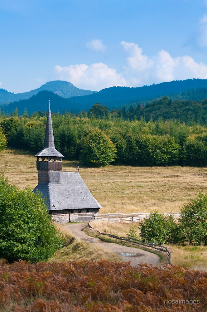 Countryside wooden church by riosaimages