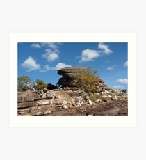 Attractive rock formation in the Top End Art Print