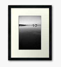 Long Beach surfers Framed Print