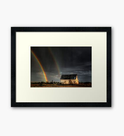 Rainbow Shed Framed Print