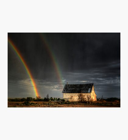 Rainbow Shed Photographic Print