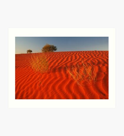 Sundown,Simpson Desert Art Print