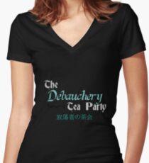 Debauchery Tea Party Women's Fitted V-Neck T-Shirt
