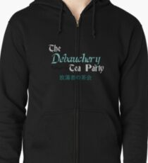 Debauchery Tea Party Zipped Hoodie
