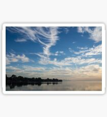Of Feathery Clouds and Tranquil Mornings Sticker