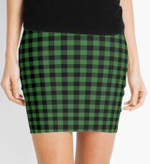 Classic Green Country Cottage Summer Buffalo Plaid Mini Skirt
