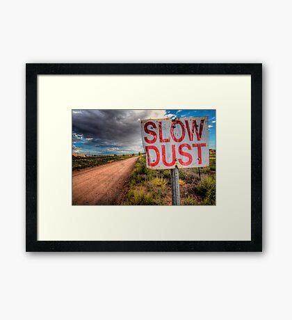 Slow Dust Framed Print