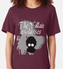The Villain in Glasses Slim Fit T-Shirt