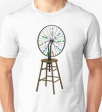 Redesigning the Wheel (After Duchamp) Slim Fit T-Shirt