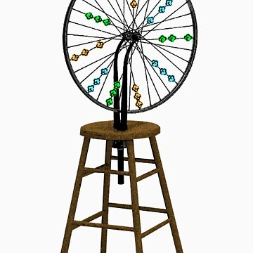 Redesigning the Wheel (After Duchamp) by nofrillsart