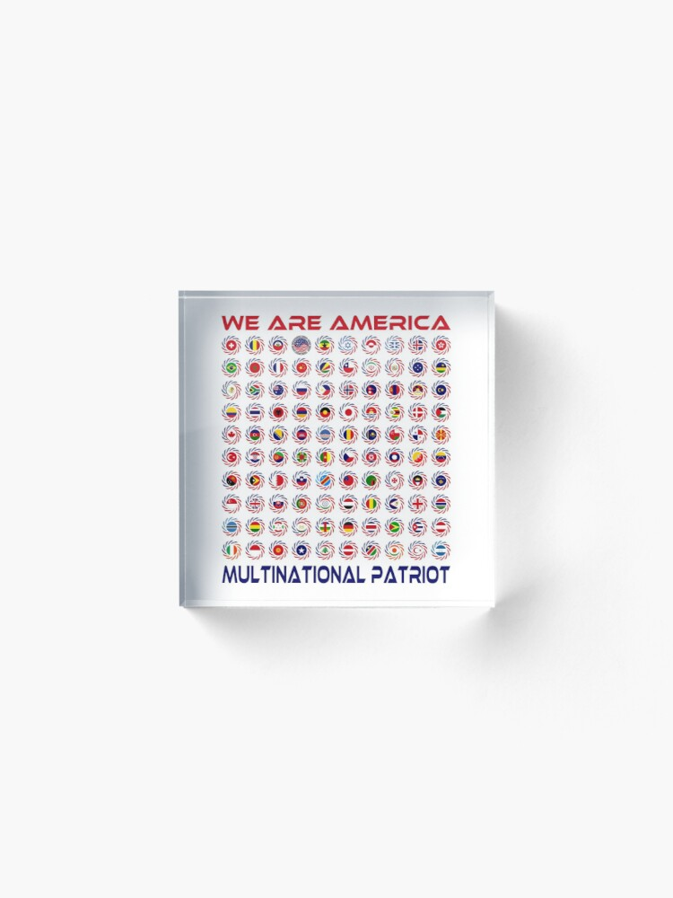 Alternate view of We Are America Multinational Patriot Flag Collective 2.0 Acrylic Block