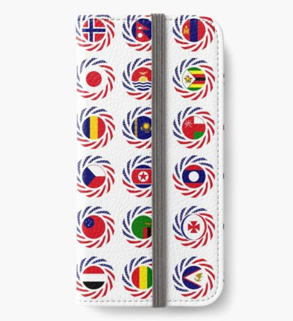 We Are America Multinational Patriot Flag Collective 2.0 iPhone Wallet