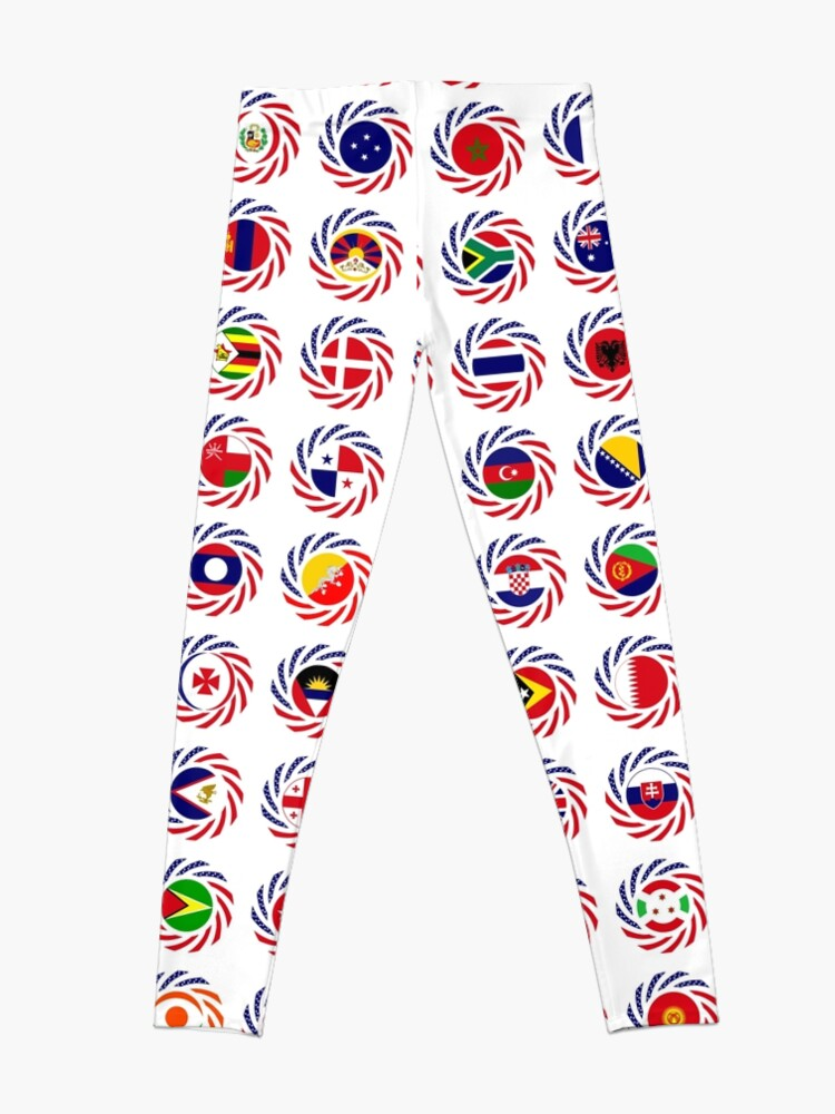 Alternate view of We Are America Multinational Patriot Flag Collective 2.0 Leggings