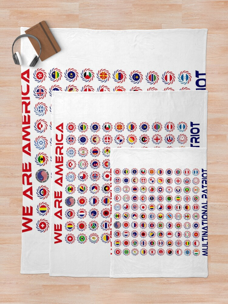 Alternate view of We Are America Multinational Patriot Flag Collective 2.0 Throw Blanket