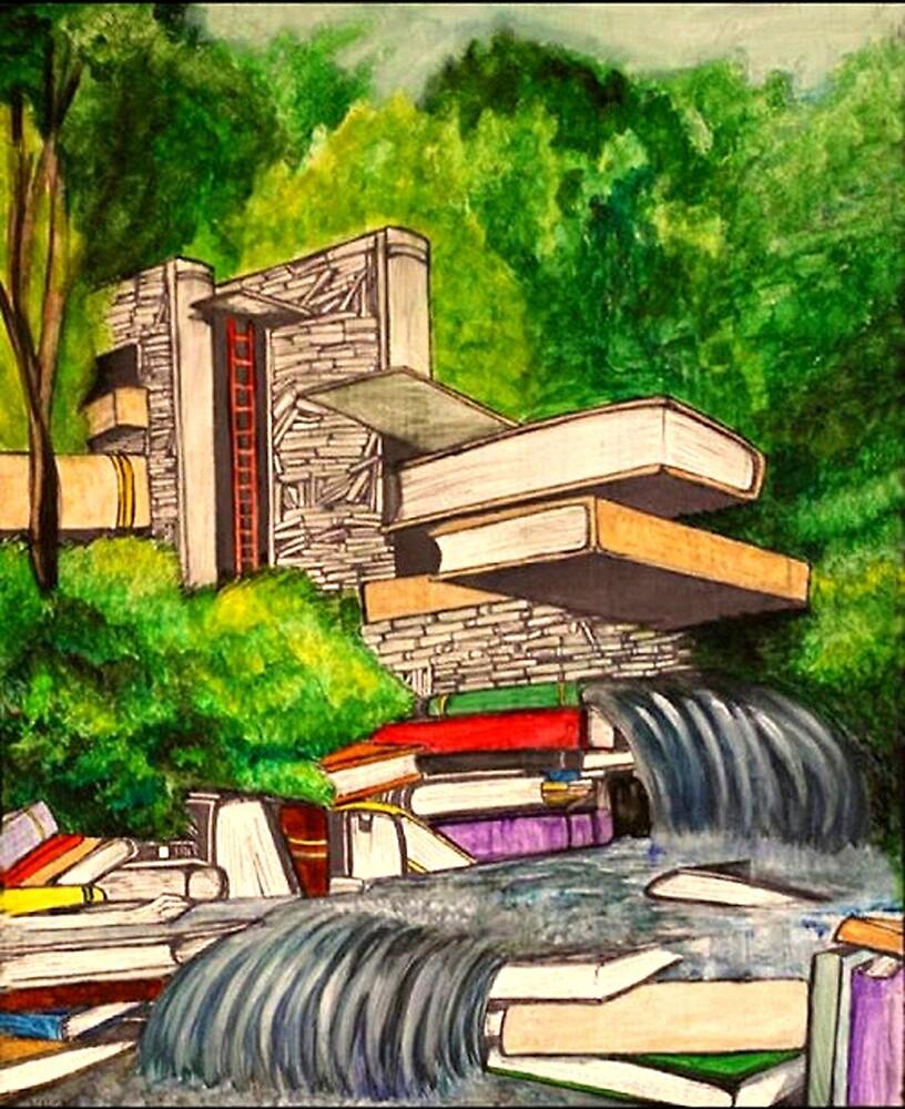 Falling Books by Kat Wharton
