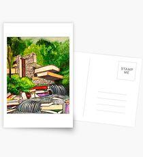 Falling Books Postcards