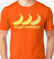 'Plant Powered' Vegan Banana Design T-Shirt