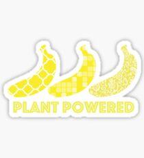 'Plant Powered' Vegan Banana Design Sticker