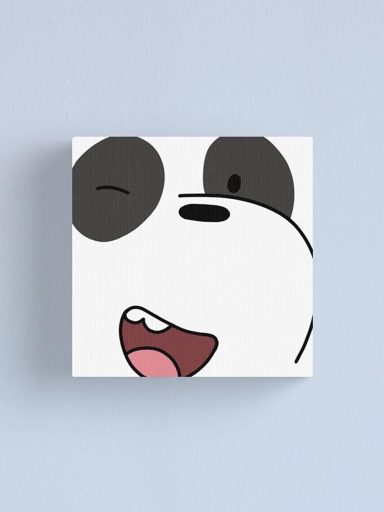 Alternate view of Panda - We Bare Bears  Canvas Print