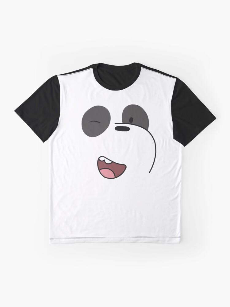 Alternate view of Panda - We Bare Bears  Graphic T-Shirt