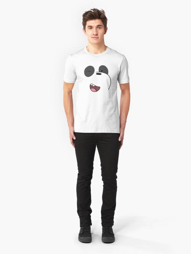 Alternate view of Panda - We Bare Bears  Slim Fit T-Shirt