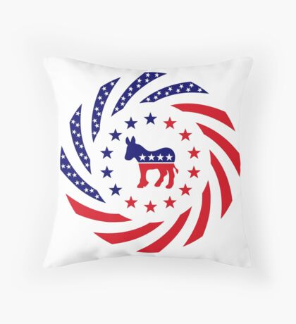 Democratic Murican Patriot Flag Series Throw Pillow