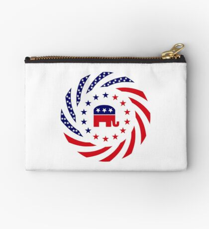 Republican Murican Patriot Flag Series Zipper Pouch