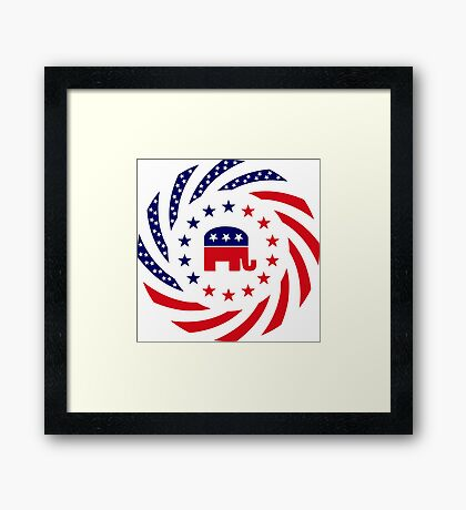 Republican Murican Patriot Flag Series Framed Print