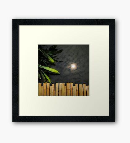 Bamboo bridge Framed Print