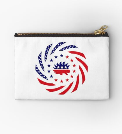 Libertarian Murican Patriot Flag Series Zipper Pouch