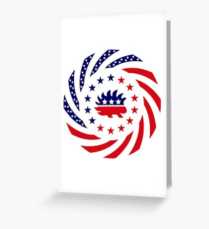 Libertarian Murican Patriot Flag Series Greeting Card