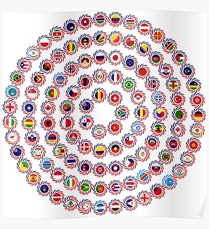 We Are America Multinational Patriot Flag Collective 1.0 Poster