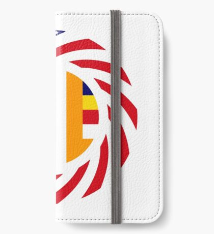 Buddhist Murican Patriot Flag Series iPhone Wallet