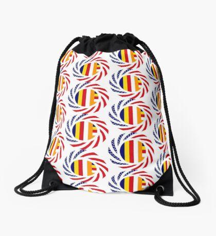 Buddhist Murican Patriot Flag Series Drawstring Bag