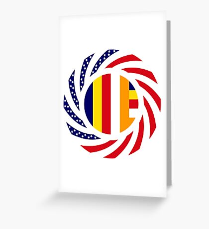 Buddhist Murican Patriot Flag Series Greeting Card