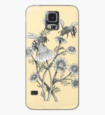 Funda/vinilo para Samsung Galaxy las abejas y la manzanilla en el fondo de la miel