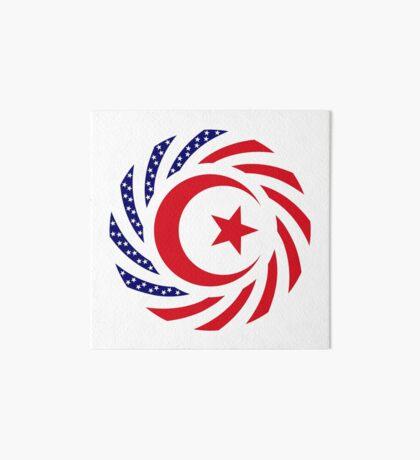 Muslim American Multinational Patriot Flag Series 1.0 Art Board Print