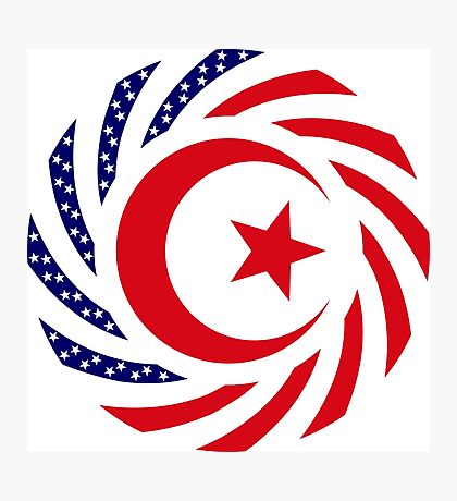 Muslim American Multinational Patriot Flag Series 1.0 Photographic Print