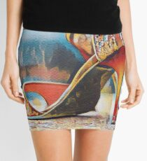 NeoTango Tango Shoes Pop Art Mini Skirt