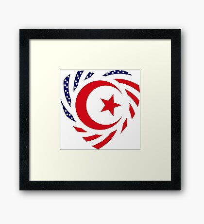 Muslim American Multinational Patriot Flag Series Framed Print