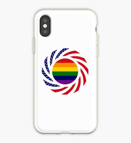 Rainbow American Patriot Flag Series iPhone Case