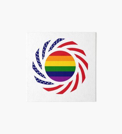 Rainbow American Patriot Flag Series Art Board Print