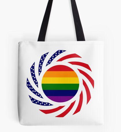 Rainbow American Patriot Flag Series Tote Bag
