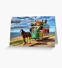 Horse Drawn Tram Greeting Card