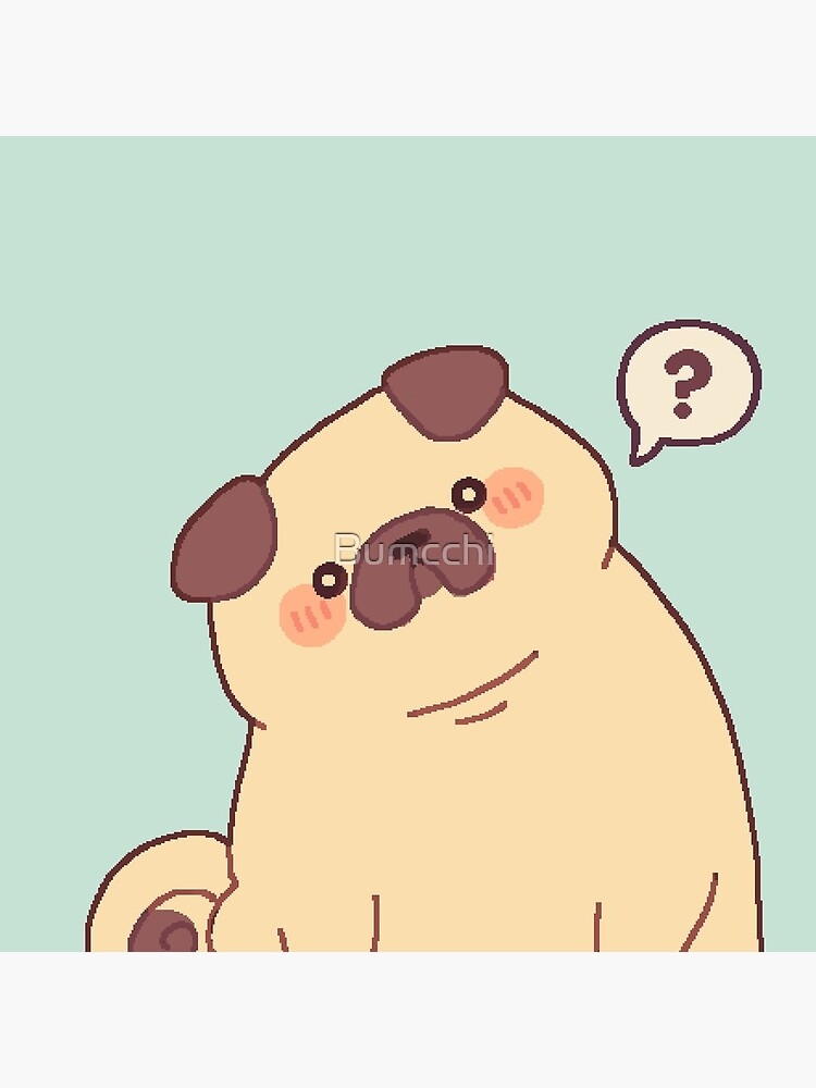 Cute & Confused Chubby Pixel Pug  by Bumcchi